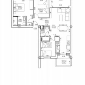 Layout for 3 bedrooms model