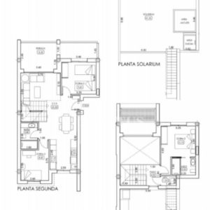 3 bedrooms duplex layout