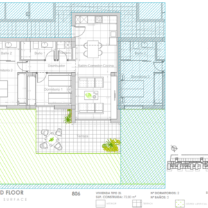 Sunny apartment 806 lay-out