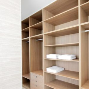 Walk in wardrobe with master bedroom