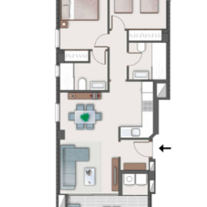 Type A apartment lay out