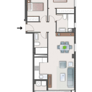 Type B apartment lay out