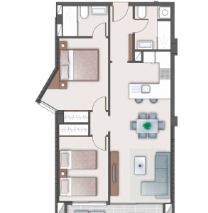 Type C apartment lay out