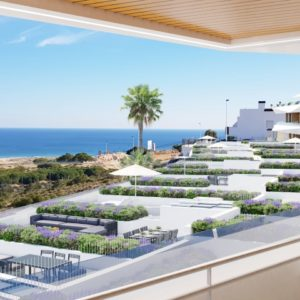 Aura will be built on a slope towards Mediterranean sea