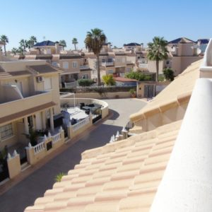 Townhouse a view from roof terrace, Las Marinas, La Zenia