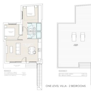 2 bedroom villa lay-out