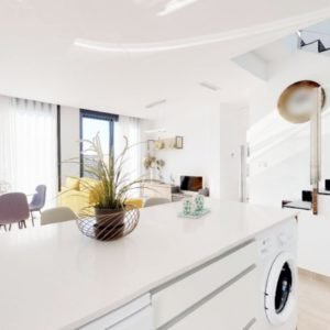 From kitchen to airy and bright living room